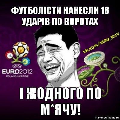 Футболісти на Євро 2012 роблять удари
