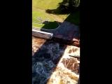 выпуск воды из шлюза в Вытегре (история)