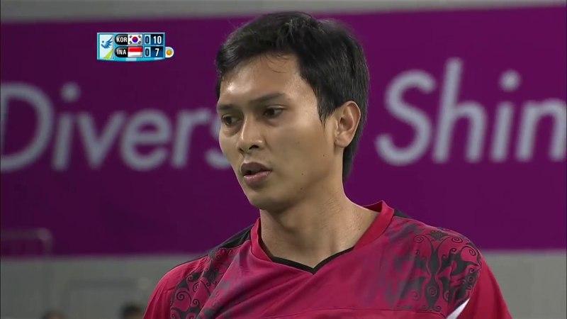 [HD] F - 2014 Asian Games - MD - M.AHSAN / H.SETIAWAN vs YOO Y.S. / LEE Y.D.