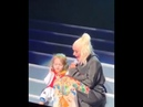 Christina Aguilera Brings Her Daughter Summer Rain On Stage in St Louis MO 11 6 18