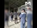 северные корейцы проводят производственную гимнастику.
