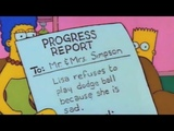 Lisa Refuses To Play Dodge-ball Because She Is Sad - The Simpsons