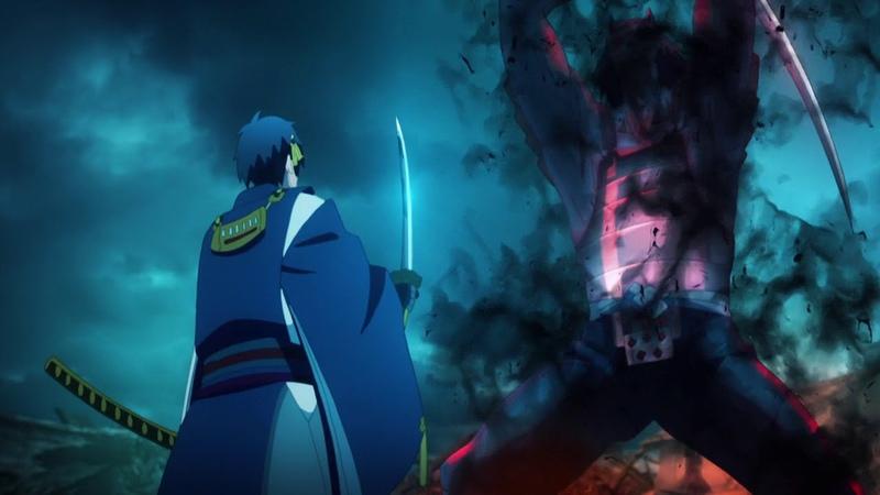 Katsugeki Touken Ranbu Episode 7 Fight Scene Raw