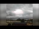 God appears to walk across sky between clouds in Alabama