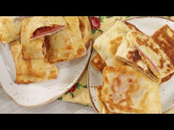 Закрытая мини-пицца с колбасой и сыром за 15 минут. Быстрые пирожки на кефире без хлопот.