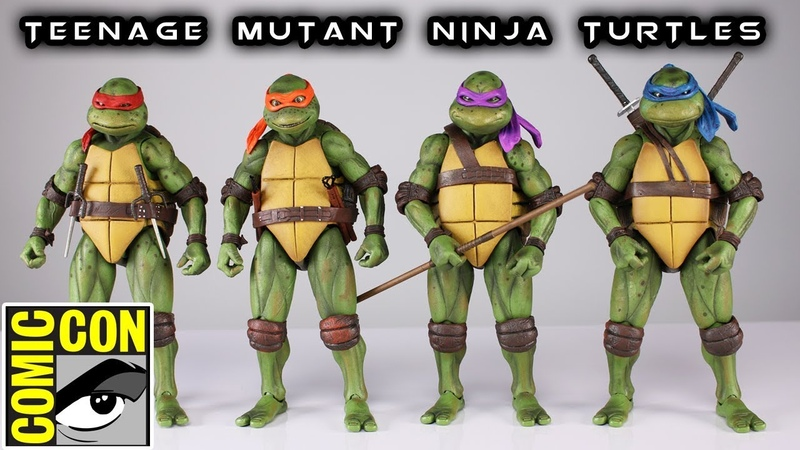NECA TEENAGE MUTANT NINJA TURTLES SDCC 2018 Exclusive Action Figure Review