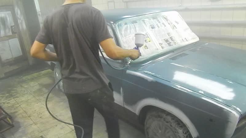 Узбек Федя показывает мастер-класс. Экспресс подготовка и покраска за день БЭХи 7-ки!