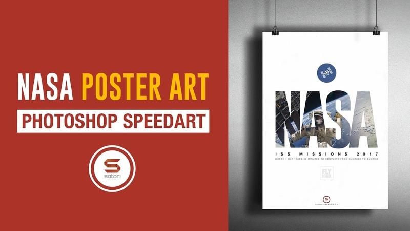 NASA ISS POSTER DESIGN IN PHOTOSHOP Photoshop NASA Poster Mockup