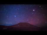 Звёздное небо и гора Килиманджаро