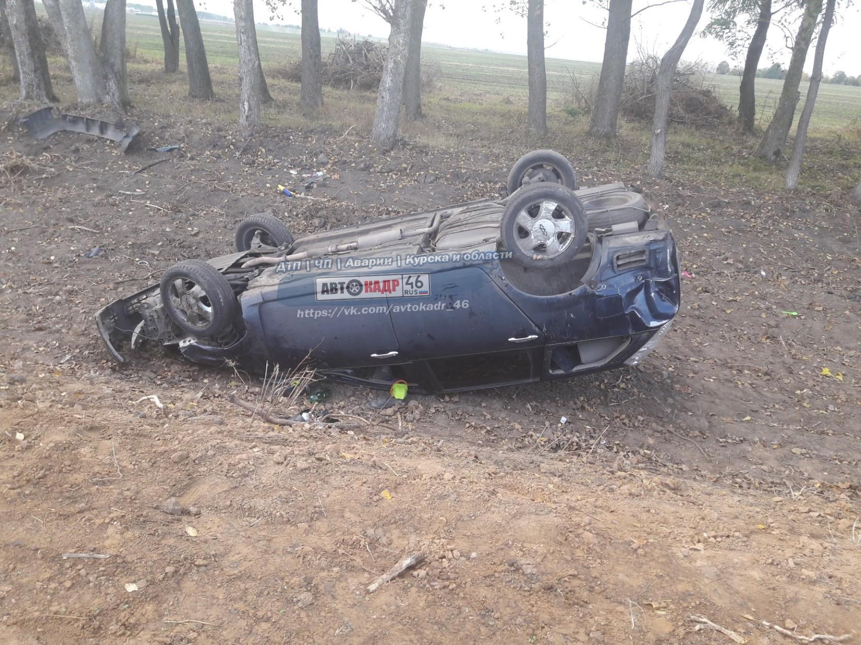 Под Курском водитель опрокинулся в кювет и сбежал