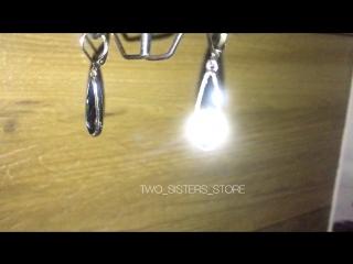 Серьги , украшения с кристаллами от Сваровски