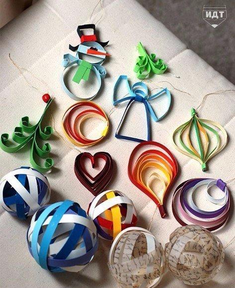 Бумажные украшения своими руками новогодние