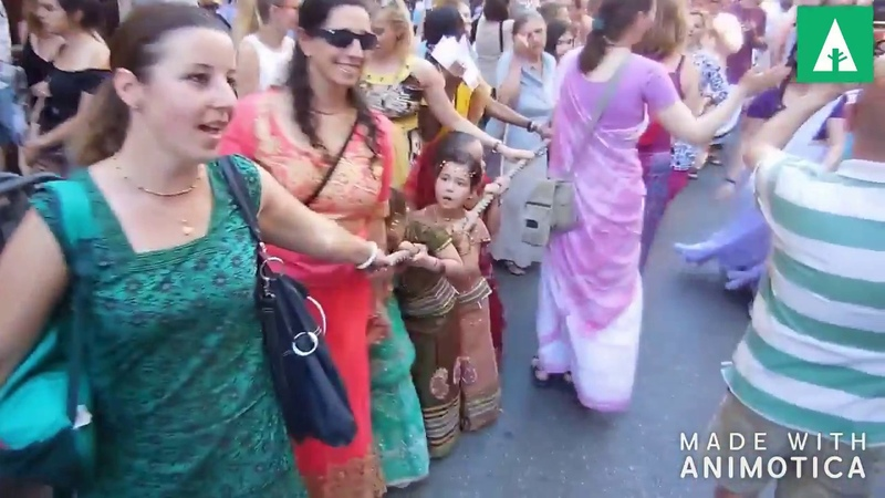Iskcon of happiness hare krisna kittan and dance