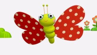 Деревяшки - Бабочка - Серия 32 - развивающие мультики для малышей