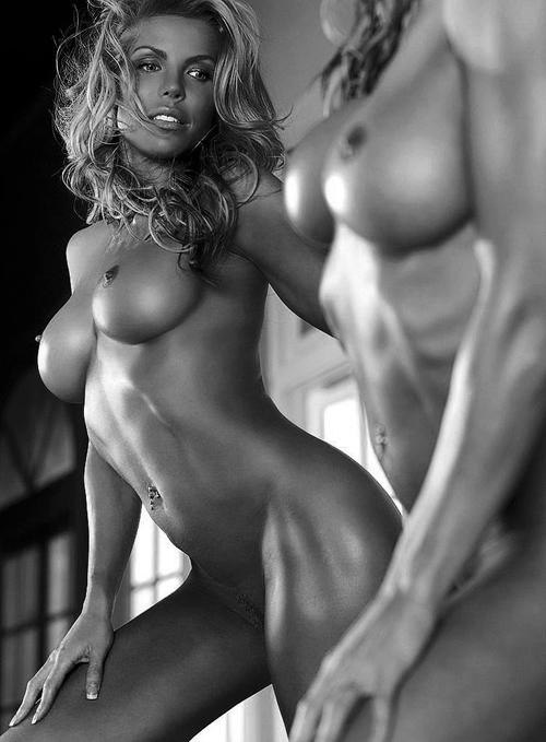 Tiffany million masturbates in front of mirror