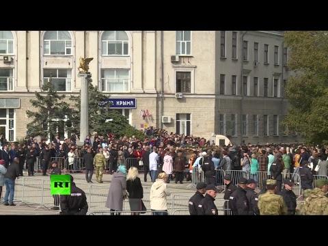 Церемония прощания с погибшими в результате трагедии в керченском колледже — LIVE