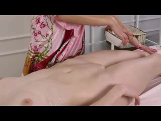 Oil massage by two virgins [sexy candid girls]