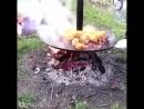 Садж-сковорода для готовки на костре