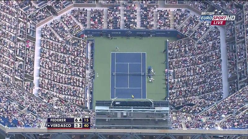 2012 US Open 2012 R3 Federer vs Verdasco