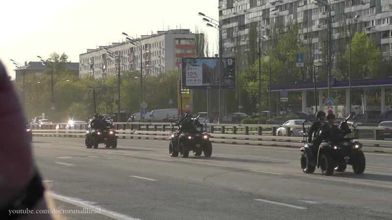 Техника на репетицию парада в Москве на Красной площади 2018 по Звенигородскому шоссе
