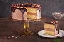 Бисквитный торт с ореховым ликером