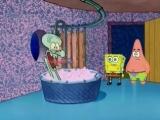 Spongebob and Patrick interupt Squidward's bath.mp4