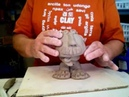 Kids pinch pot Clay man Bobble head project