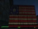 Американский флаг из бутылок Nuka Cola примерно 600 штук