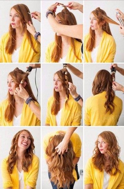 Как сделать легкие волны волос