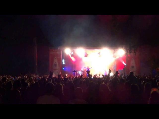 Kraftklub, Kosmonaut-Festival, Chemnitz 24.08.2013, ...ich komm aus Karl-Marx-Stadt...
