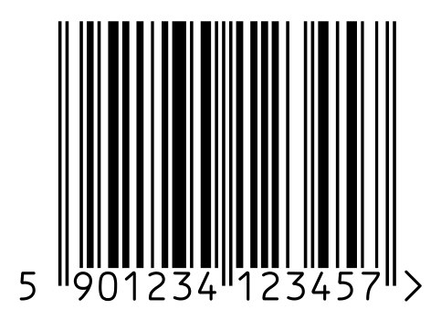 эскиз тату штрих код: