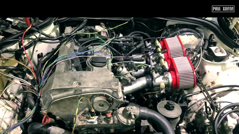 [Ч2] Завели мотор - Mercedes benz W201 M111 4 throttle на дросселях от BMW