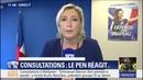 Marine Le Pen On vote des lois qui ne sont pas acceptées par la moitié des Français