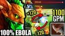 OMG 100% EBOLA Monster Farm 1100 GPM EPIC Bounty Hunter Craziest IMBA 7.20 Fun Dota 2