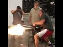 Rob Gronkowski Shooting a Mini Gun