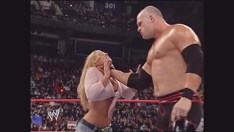 Kane attack Trish Stratus Raw 01.17.2005