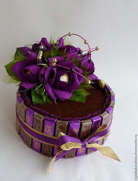 Букеты из конфет торты фото