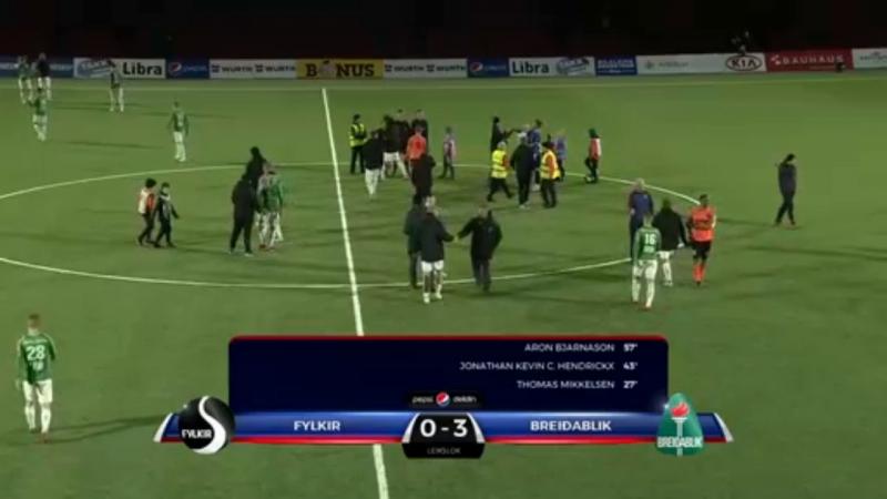 Live Чемпионат Исландии. 20 тур. Филькир - Брейдаблик (второй тайм)