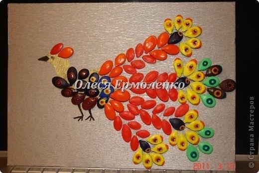 Осенние поделки с тыквенных семечек