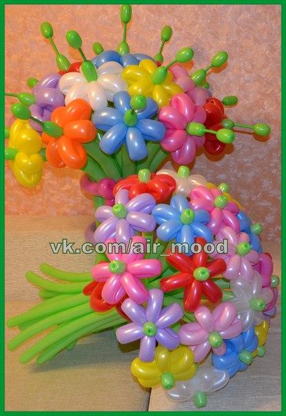 Цветы в шарике своими руками