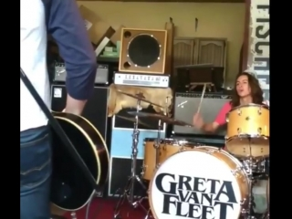 Jake And Sam On drums - doing Zeppelin's