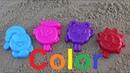 Смешарики учим цвета на английском для детей Learn Colors for Children colored sand molds