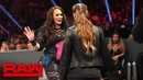 Ronda Rousey and Nia Jax's face to face gets heated Raw Dec 10 2018
