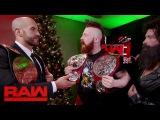 Cesaro &amp Sheamus receive their new Raw Tag Team Titles Raw, Dec. 19, 2016