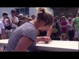 Woman SNAPS Her Other Arm While Arm Wrestling