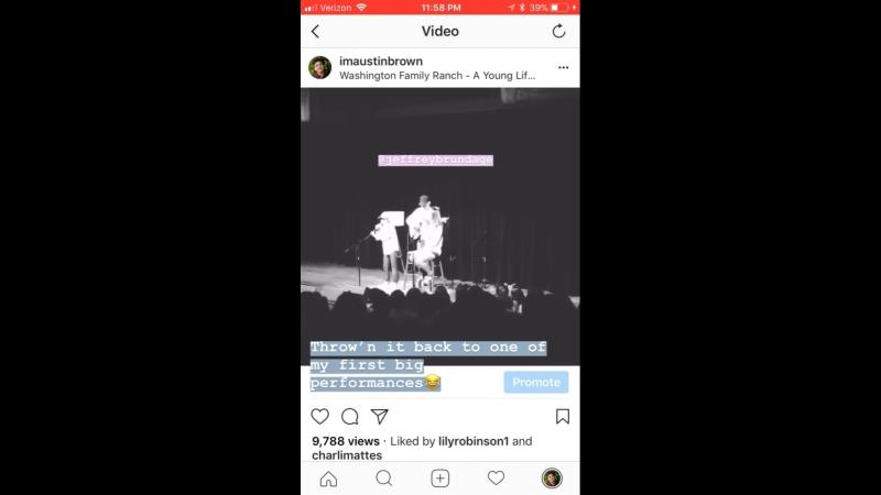 Austin Brown — Instagram Stories
