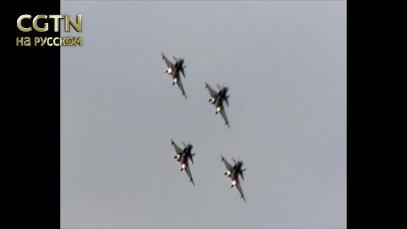 Группа из семи самолетов-истребителей J-10 и двух самолетов Ил-76 ВВС НОАК отправилась в Россию