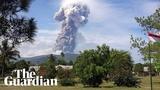 Volcano erupts on tsunami-hit island in Indonesia