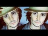 Johnny Depp make-up transformation by Anastasiya Shpagina