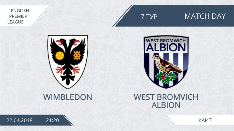 AFL18. England. Premier League . Day 7. Wimbledon - West Bromvich Albion